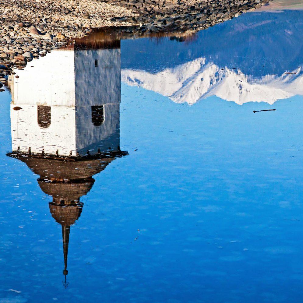 Reflection at reservoir Liptovská Mara, Slovakia