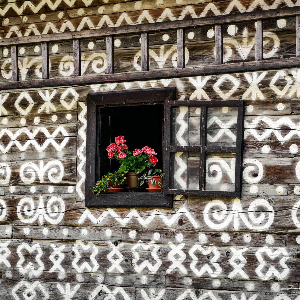 Folk architecture in village Čičmany, Slovakia