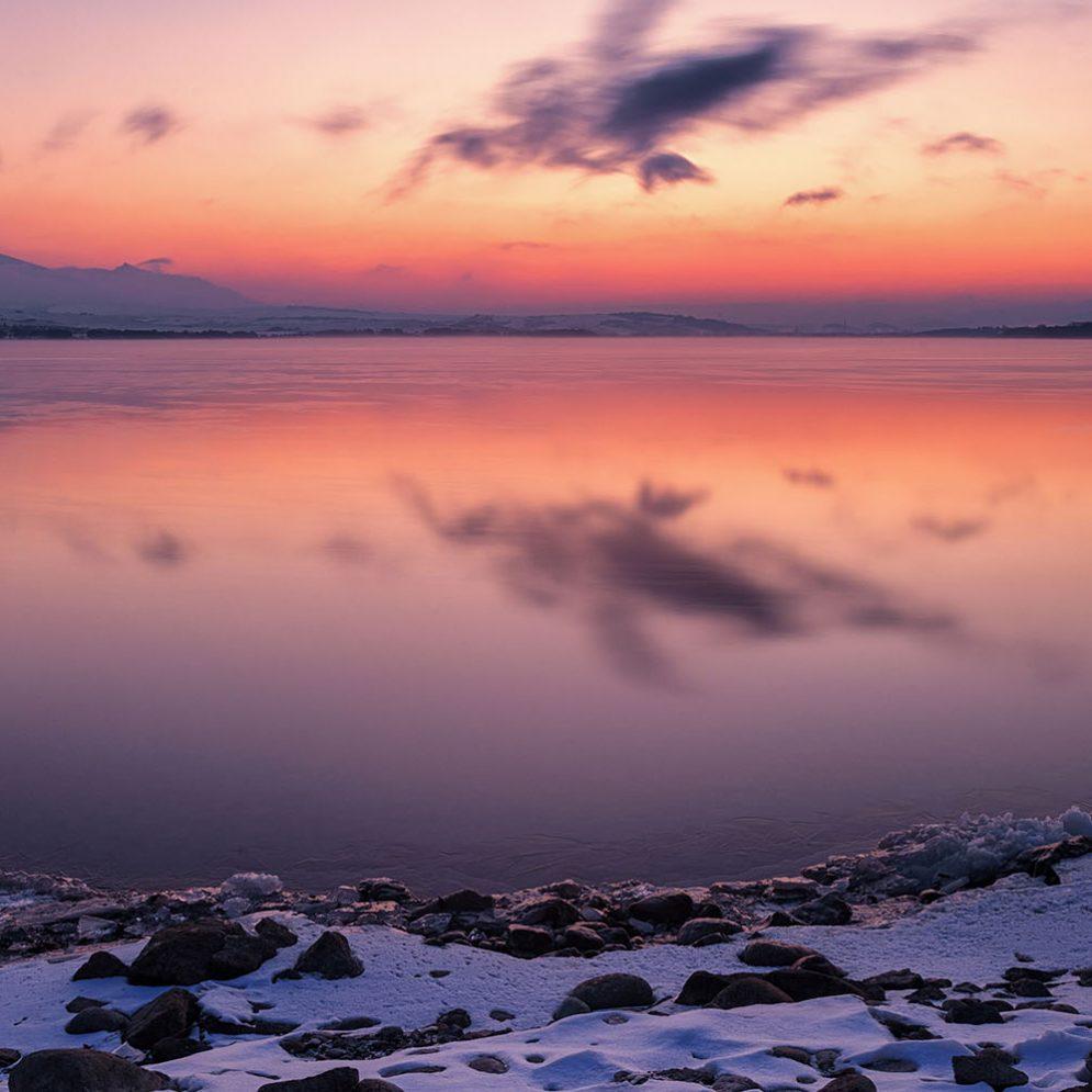 Sunrise at reservoir Liptovská Mara, Slovakia