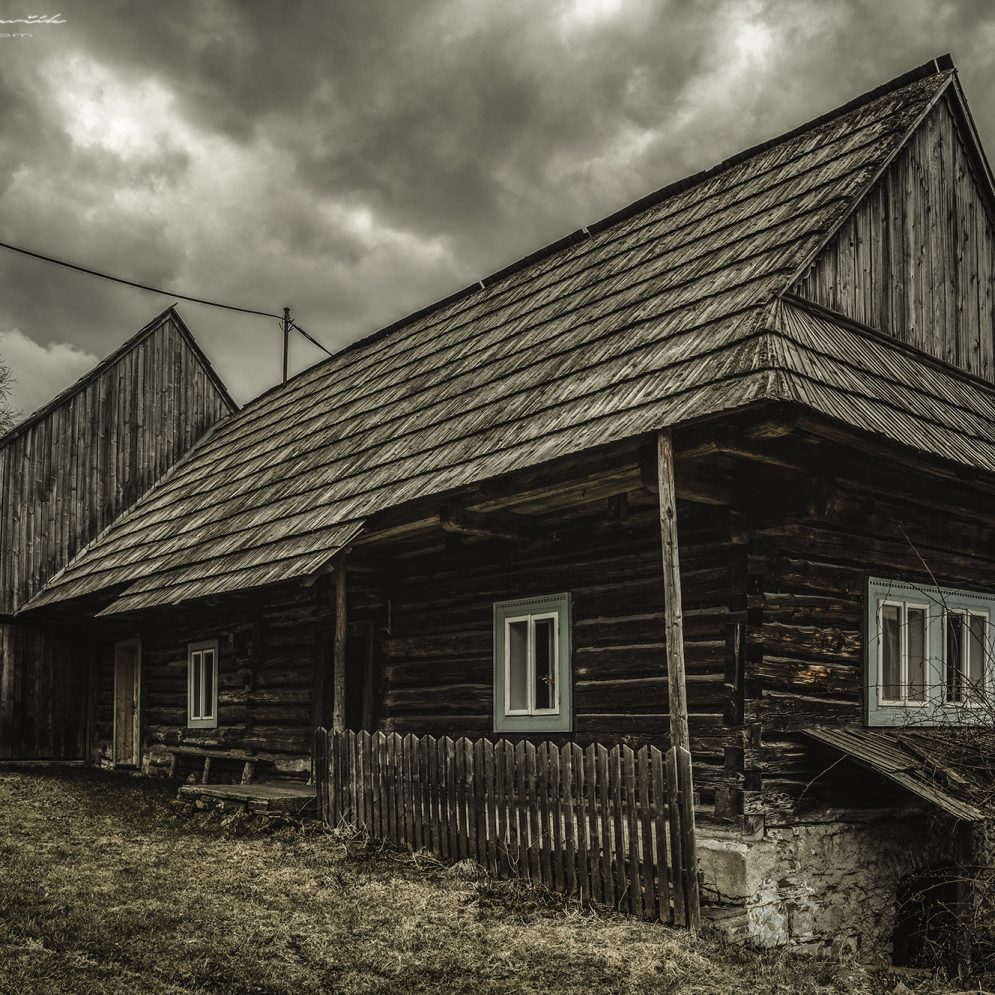 Traditional rural slovak cottage in village Velké Borové