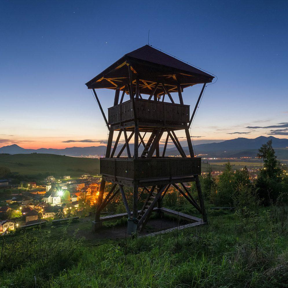Lookout over village Liptovský Ján