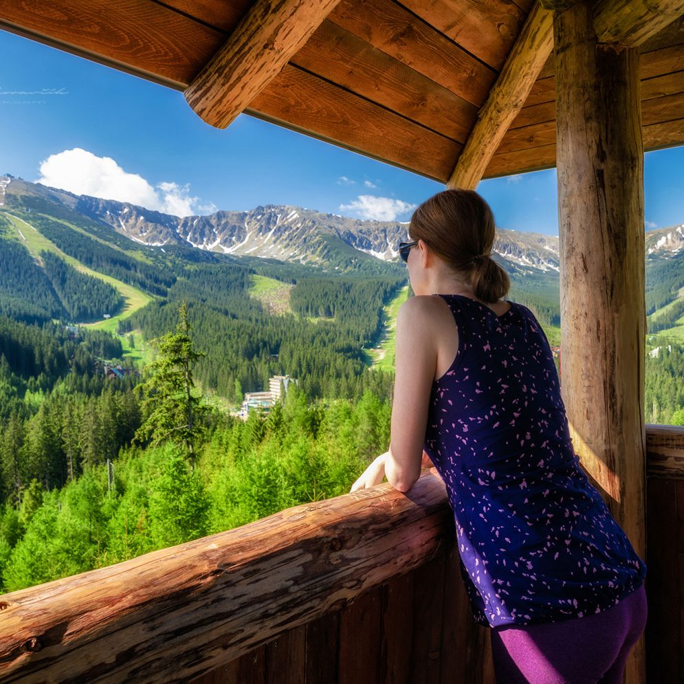 View from lookout Ostredok on Low Tatras mountains