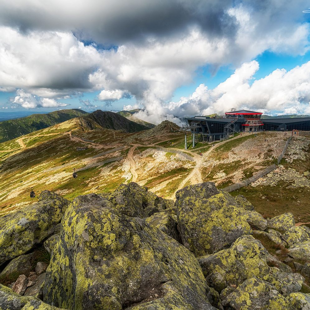 View from hill Chopok in Low Tatras mountains