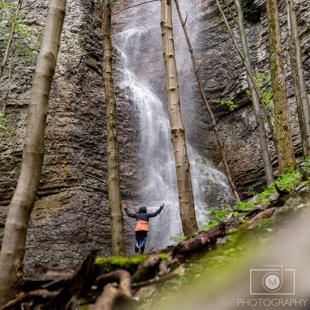 Brankovský waterfall in Low Tatras mountains