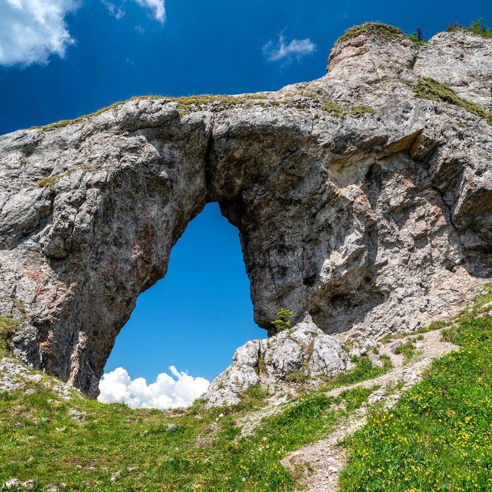Rock window Ohnište in Low Tatras mountains