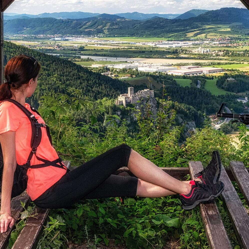 Lookout over castle Strečno