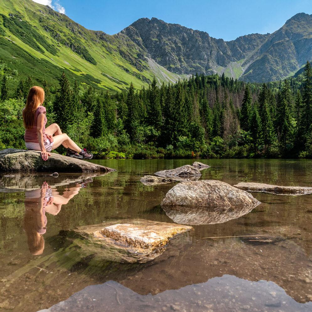 Ťatliakovo lake in Western Tatras