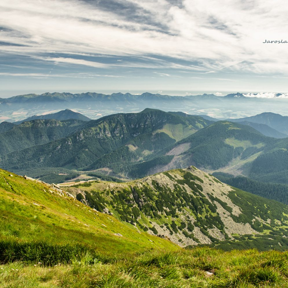 View from hill Chopok in Low Tatras mountains, Slovakia