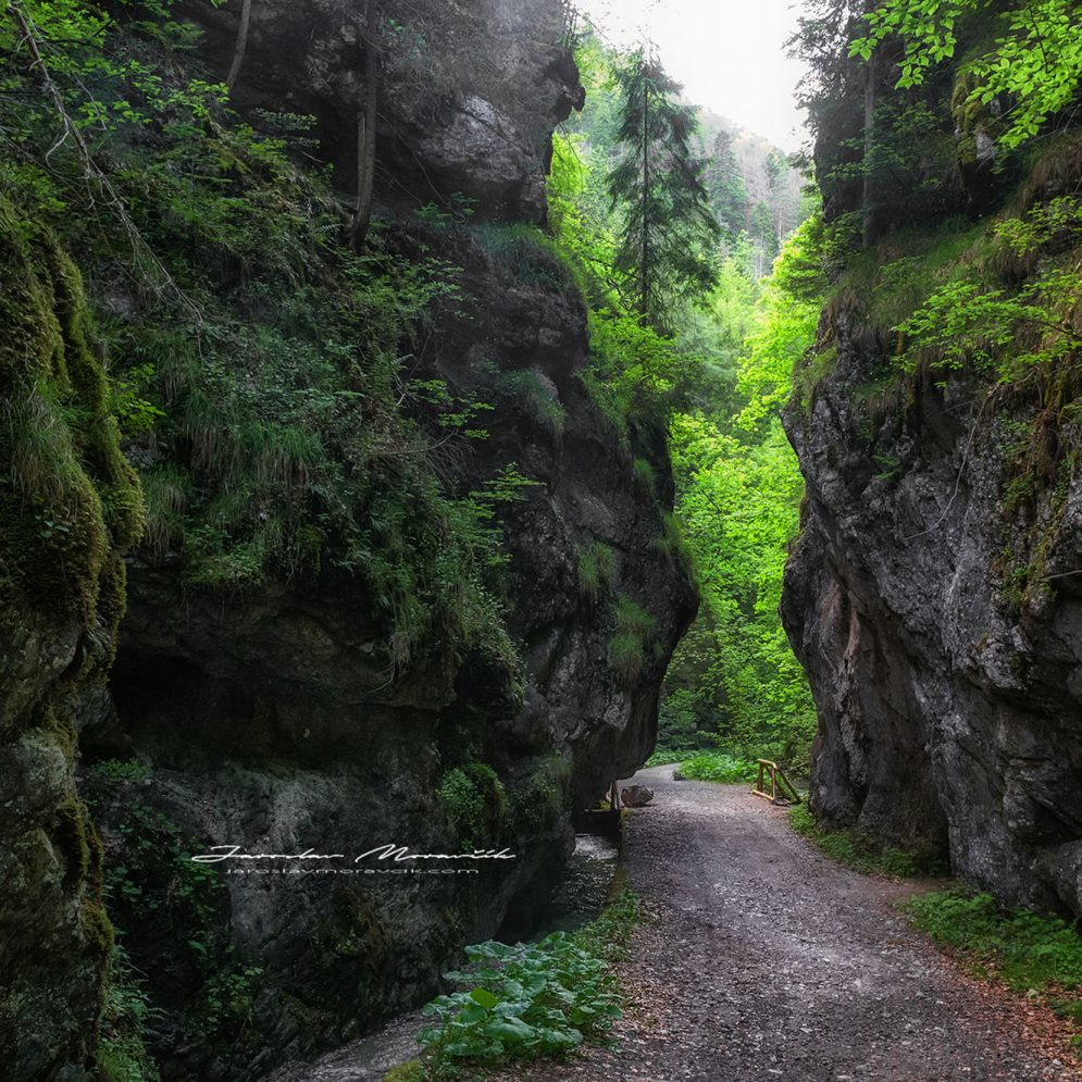 Rock formation called Devil's gate in Gaderska valley